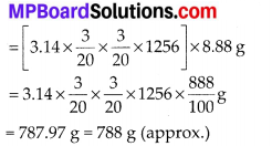 MP Board Class 10th Maths Solutions Chapter 13 Surface Areas and Volumes Ex 13.5 1