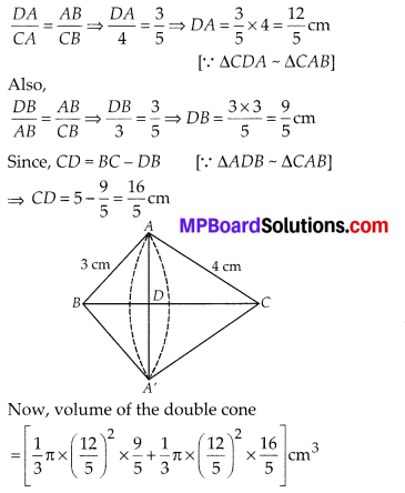 MP Board Class 10th Maths Solutions Chapter 13 Surface Areas and Volumes Ex 13.5 2
