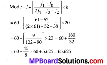 MP Board Class 10th Maths Solutions Chapter 14 Statistics Ex 14.2 5