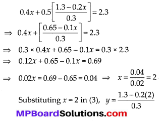 MP Board Class 10th Maths Solutions Chapter 3 Pair of Linear Equations in Two Variables Ex 3.3 4
