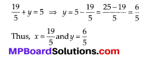 MP Board Class 10th Maths Solutions Chapter 3 Pair of Linear Equations in Two Variables Ex 3.4 1