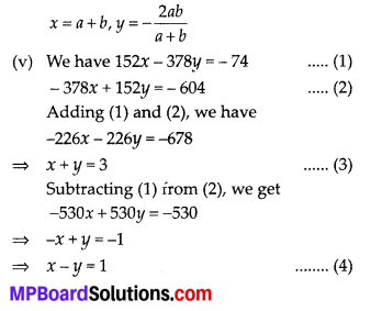 MP Board Class 10th Maths Solutions Chapter 3 Pair of Linear Equations in Two Variables Ex 3.7 13