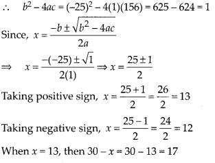 MP Board Class 10th Maths Solutions Chapter 4 Quadratic Equations Ex 4.3 14