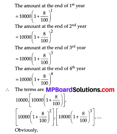MP Board Class 10th Maths Solutions Chapter 5 Arithmetic Progressions Ex 5.1 2