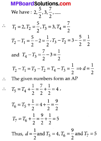 MP Board Class 10th Maths Solutions Chapter 5 Arithmetic Progressions Ex 5.1 7