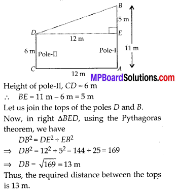 MP Board Class 10th Maths Solutions Chapter 6 Triangles Ex 6.5 18
