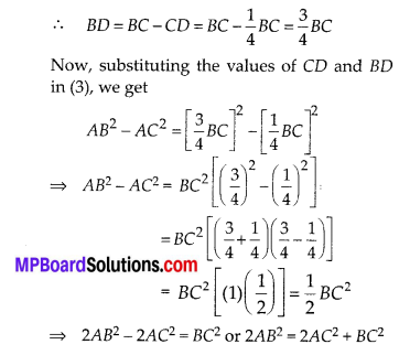 MP Board Class 10th Maths Solutions Chapter 6 Triangles Ex 6.5 22