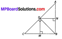 MP Board Class 10th Maths Solutions Chapter 6 Triangles Ex 6.6 4