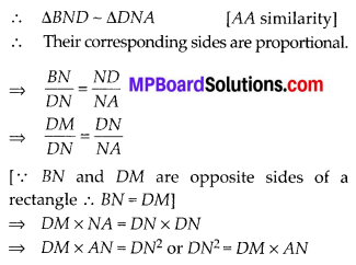 MP Board Class 10th Maths Solutions Chapter 6 Triangles Ex 6.6 7