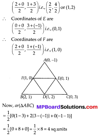 MP Board Class 10th Maths Solutions Chapter 7 Coordinate Geometry Ex 7.3 1