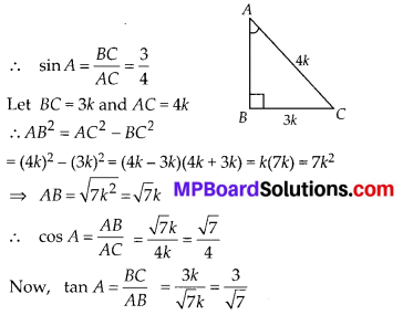 MP Board Class 10th Maths Solutions Chapter 8 Introduction to Trigonometry Ex 8.1 4