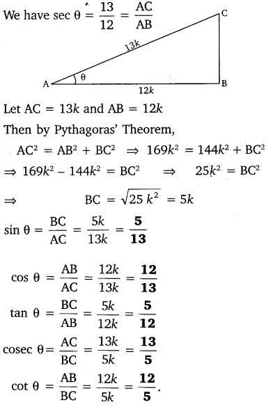 MP Board Class 10th Maths Solutions Chapter 8 Introduction to Trigonometry Ex 8.1 6