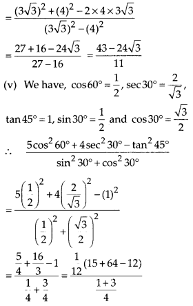 MP Board Class 10th Maths Solutions Chapter 8 Introduction to Trigonometry Ex 8.2 5