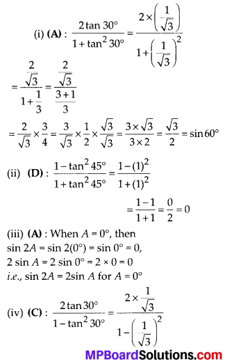 MP Board Class 10th Maths Solutions Chapter 8 Introduction to Trigonometry Ex 8.2 6