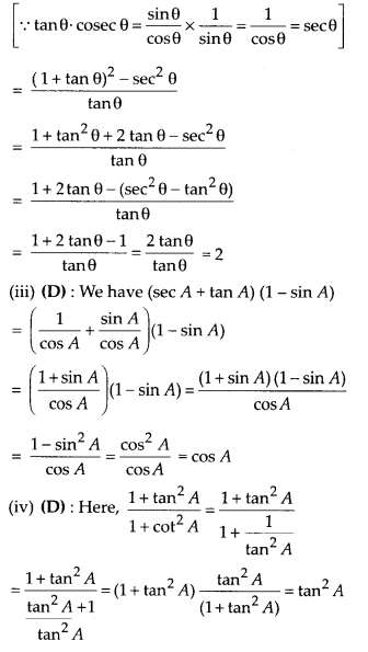 MP Board Class 10th Maths Solutions Chapter 8 Introduction to Trigonometry Ex 8.4 4