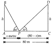 MP Board Class 10th Maths Solutions Chapter 9 Some Applications of Trigonometry Ex 9.1 13