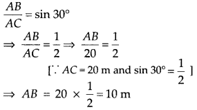 MP Board Class 10th Maths Solutions Chapter 9 Some Applications of Trigonometry Ex 9.1 2