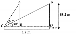 MP Board Class 10th Maths Solutions Chapter 9 Some Applications of Trigonometry Ex 9.1 20