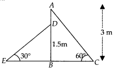 MP Board Class 10th Maths Solutions Chapter 9 Some Applications of Trigonometry Ex 9.1 4