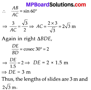 MP Board Class 10th Maths Solutions Chapter 9 Some Applications of Trigonometry Ex 9.1 5