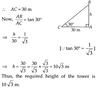 MP Board Class 10th Maths Solutions Chapter 9 Some Applications of Trigonometry Ex 9.1 6