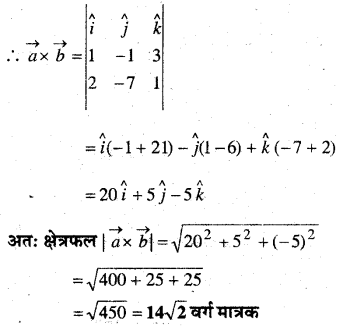 MP Board Class 12th Maths Book Solutions Chapter 10 सदिश बीजगणित Ex 10.5 12