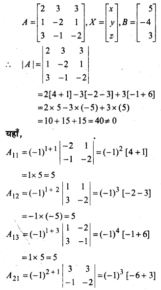 MP Board Class 12th Maths Book Solutions Chapter 4 सारणिक Ex 4.6 23