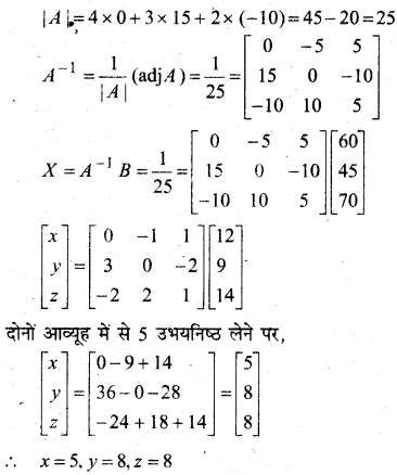 MP Board Class 12th Maths Book Solutions Chapter 4 सारणिक Ex 4.6 34