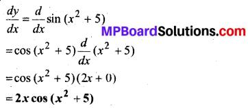 MP Board Class 12th Maths Book Solutions Chapter 5 सांतत्य तथा अवकलनीयता Ex 5.2 1