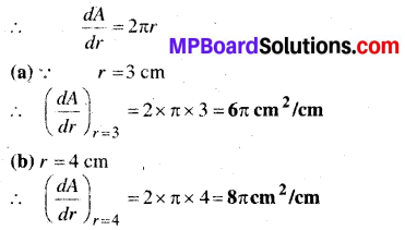 MP Board Class 12th Maths Book Solutions Chapter 6 अवकलज के अनुप्रयोग Ex 6.1 1
