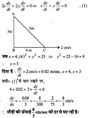 MP Board Class 12th Maths Book Solutions Chapter 6 अवकलज के अनुप्रयोग Ex 6.2 20