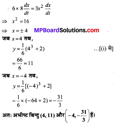 MP Board Class 12th Maths Book Solutions Chapter 6 अवकलज के अनुप्रयोग Ex 6.2 22