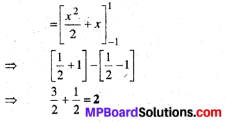 MP Board Class 12th Maths Book Solutions Chapter 7 समाकलन Ex 7.9 1