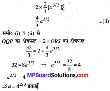 MP Board Class 12th Maths Book Solutions Chapter 8 समाकलनों के अनुप्रयोग Ex 8.1 12