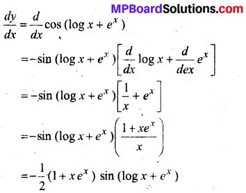 MP Board Class 12th Maths Solutions Chapter 5 सांतत्य तथा अवकलनीयता Ex 5.4 10