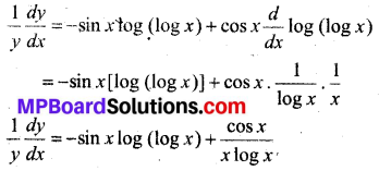 MP Board Class 12th Maths Solutions Chapter 5 सांतत्य तथा अवकलनीयता Ex 5.4 12