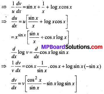 MP Board Class 12th Maths Solutions Chapter 5 सांतत्य तथा अवकलनीयता Ex 5.4 26