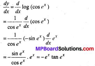 MP Board Class 12th Maths Solutions Chapter 5 सांतत्य तथा अवकलनीयता Ex 5.4 5
