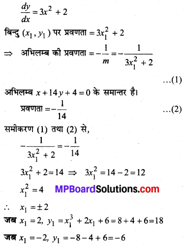 MP Board Class 12th Maths Solutions Chapter 6 अवकलज के अनुप्रयोग Ex 6.3 23
