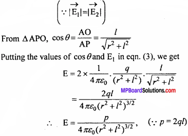 MP Board 12th Physics Chapter 1 Electric Charges and Fields Important Questions - 25