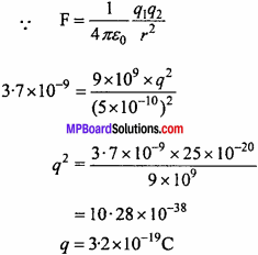 MP Board 12th Physics Chapter 1 Electric Charges and Fields Important Questions - 59