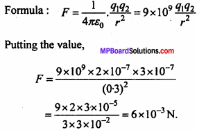 MP Board 12th Physics Chapter 1 Electric Charges and Fields Important Questions - 65