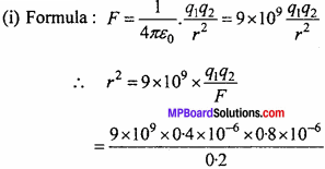MP Board 12th Physics Chapter 1 Electric Charges and Fields Important Questions - 66