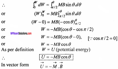 MP Board 12th Physics Important Questions Chapter 5 Magnetism and Matter 17