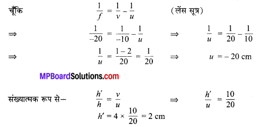 MP Board Class 10th Science Solutions Chapter 10 प्रकाश-परावर्तन तथा अपवर्तन 78