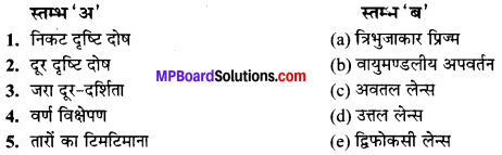 MP Board Class 10th Science Solutions Chapter 11 मानव नेत्र एवं रंगबिरंगा संसार 10