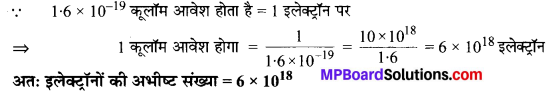 MP Board Class 10th Science Solutions Chapter 12 विद्युत 1