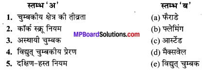 MP Board Class 10th Science Solutions Chapter 13 विद्युत धारा का चुम्बकीय प्रभाव 13