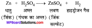 MP Board Class 10th Science Solutions Chapter 2 अम्ल, क्षारक एवं लवण 1