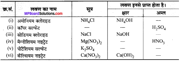 MP Board Class 10th Science Solutions Chapter 2 अम्ल, क्षारक एवं लवण 14
